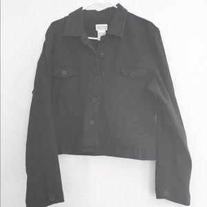 Women's size 18 French Dressing black jean jacket